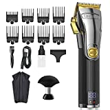 Limural Hair Clippers for Men , Fitted with Adjustable Speed Controls-V7500 / V5500 , Men Trimmer & 8 Hair Clipper Guards , Clippers for Hair Cutting Barbers Or Home Use for Men