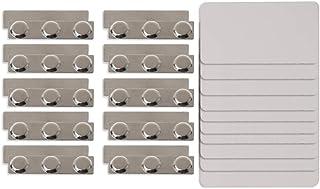 lijun 10Pc DIY Sublimation Blanks Badge Magnétique Pin Titulaire de la Carte d'identité pour Le Transfert de Chaleur