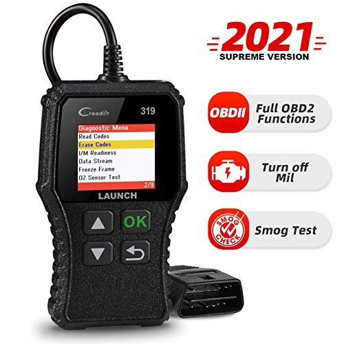 LAUNCH OBD2 Scanner CR319 Code Reader, Automotive Engine Light Check /O2 Sensor/EVAP Test with DTC Lookup, CAN Diagnostic Scan Tool with Full OBD II Functions for DIYers