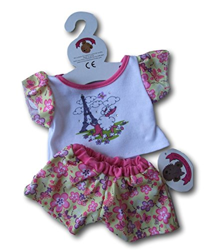 Build Your Bears Wardrobe 5060322142852 Paris Pyjama & Slippers Teddybär Kleidung, Rose
