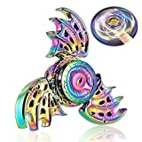 Dragon Fidget Spinner ADHD Anxiety Toys Stress Relief Reducer Spin Autism Fidgets EDC Hand Bearing Trispinner Finger Spinners Toy Focus Fidgeting Restless Tri Spinner Best Novelty Gift For Adults Kids