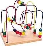 Small Foot 6941 Circuit de motricité en bois, avec trois boucles différentes, pour promouvoir la motricité, à partir de 2 ans