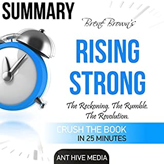 Brené Brown's Rising Strong Summary audiobook cover art