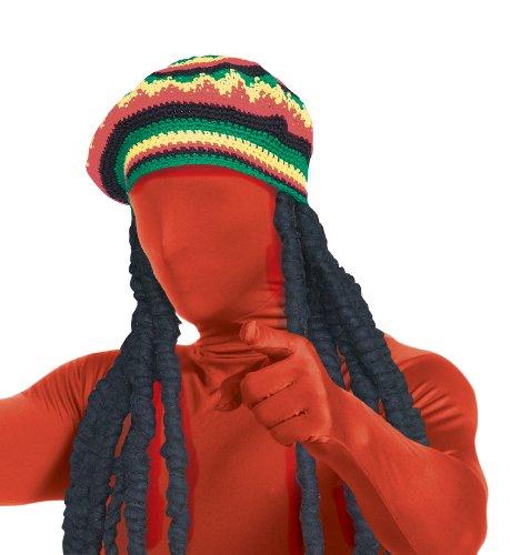 Rubie's Men's Second Skin Rasta Dreadlock Wig with Rainbow Color Cap,...