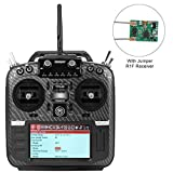 Jumper T16 Pro Hall V2 Radio Transmitter Carbon Fiber Hall Gimbal 2.4G 16CH Open Source Multi-Protocol RC Transmitter JP4-in-1 RF Module 2.4G 16CH with R1F Receiver(Mode 2 Left Hand Throttle)