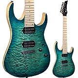 Lindo LDG-7X Guitare électrique 7cordes en érable matelassé–Éclat turquoise