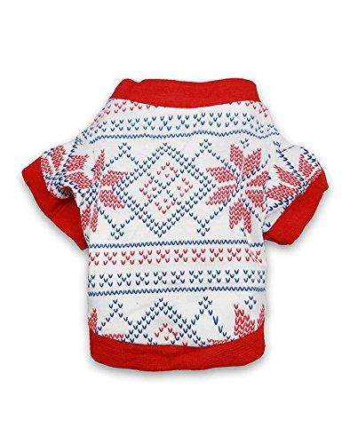 droolingdog Hund Kleidung Hund T-Shirts Puppy T-Shirt für kleine Hunde, Medium, rot