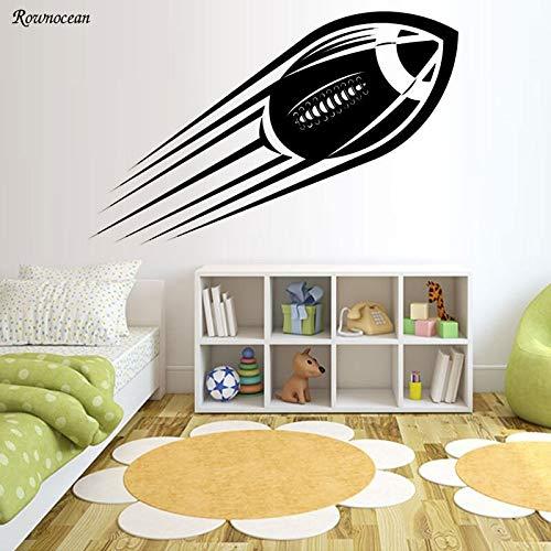 Tianpengyuanshuai American Football Wandtattoo Kinderzimmer Dekoration Vinyl entfernbarer Wandaufkleber66x42cm