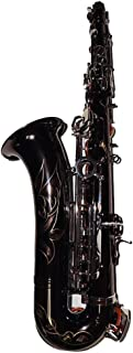 HIUHIU C Melody Sax Black Nickel Saxophone with Case Woodwind Musical Instruments Professionals