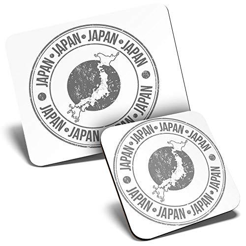 BW - Juego de alfombrilla para ratón y posavasos (23,5 x 19,6 cm y 9 x 9 cm, para ordenador y portátil, oficina, regalo, base antideslizante #40232)