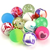Pllieay 12 Pieces Mixed Colour Jet Bouncy Balls 25mm Party Bag Filler