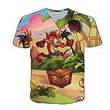 Aatensou Camiseta para hombre y niño, para verano, cuello redondo, manga corta, de Crash Band-Icoot, A8., small