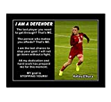 JIHONG Inspirational Motivational Posters and Prints Home Decor Oil Paintings on Canvas Kelley O'Hara 'I am a Defender' (8x10inch,Unframed)
