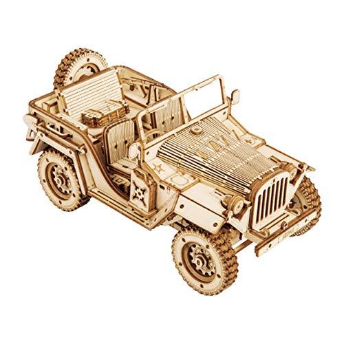 Rompecabezas 3D Seguro Durable Modelo de rompecabezas de madera para niños Rompecabezas 3d Rompecabezas tridimensional Modelo de rompecabezas de madera para niños