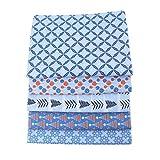 5PCS Handgemachte Diy Baumwolle Patchwork Stoff Weihnachten