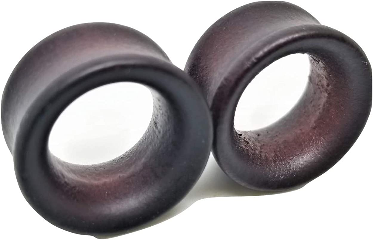 Pierced Republic Organic Stained Bamboo Plugs Doubl Luxury goods Ear Tunnel - Bombing new work