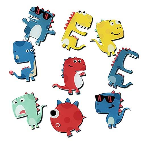 LZMMLZ 9 Piezas Broches de Dinosaurio Broches Dibujos Animados Niño Lindo Esmalte Pin Solapa Lindo para Ropa Bolsas Mochilas Sombreros Jeans Chaqueta Accesorios de Ropa Decoracion
