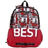 """BESTLIFE Mochila unisex """"TASKU"""" mochila escolar, para el tiempo libre con compartimento para el portátil hasta 15,6 pulgadas (39,6 cm), rojo"""