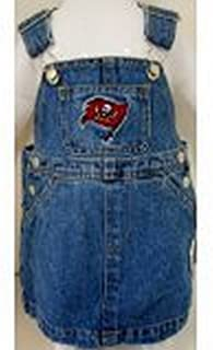 Reebok NFL Officially Licensed Tampa Bay Buccaneers Bib Overall Jean Skirt Dress