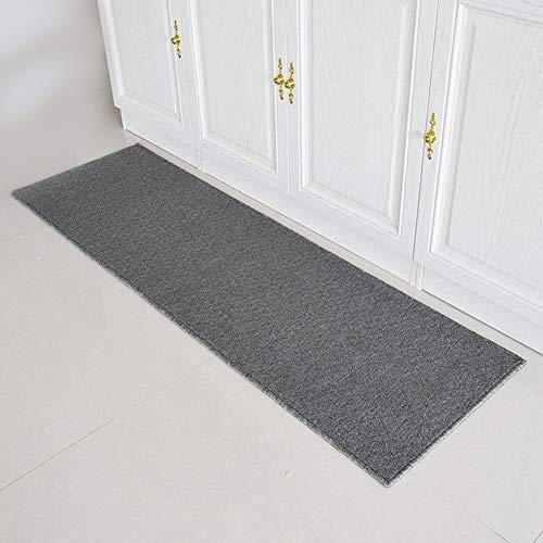 Waschbar Küche Teppich/Läufer in Zahlreichen Größen Teppichläufer mit Gut Siegel Küchenläufer, Flurläufer, rutschfeste Fußmatte,50 x 180 cm,Grau