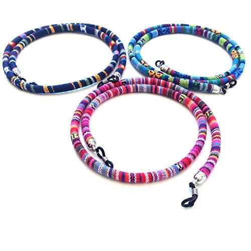 3 pcs cordón Gafas,Estampado Etnico,(HC Enterprise-N301)