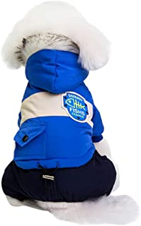 RSHSJCZZY Puppy Winter Apparels Cats Doggy Shirt Costume Pet Dog Clothes Pet Hooded Coat