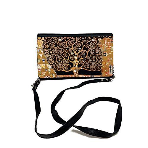 Desconocido Borsa Donna Tracolla Spalla Mano Tote Bag Borsa Chloe Nera Arte Klimt Árbol de la vida artística.