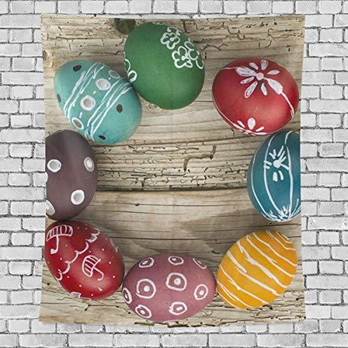 AEMAPE Lindos y Coloridos Huevos de Pascua Tapiz de Dormitorio Vertical Colgante de Pared Decoración Multiusos Tapices Tapices para Sala de Estar, Sala de Estudio, Entrada y Cocina. 60x40 Pulgadas