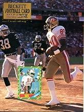 Beckett Football Card Monthly October 1990 Jerry Rice/San Francisco 49ers on Cover, Jim Everett/Purdue/Los Angeles Rams (on back cover), San Francisco 49ers, Dan Marino/Miami Dolphins, Dalton Hilliard/New Orleans Saints, Johnny Unitas/Baltimore Colts