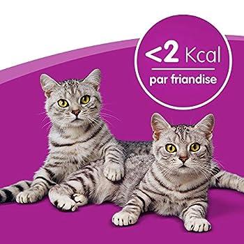 Whiskas Trio Crunchy Treats - Friandises aux saveurs de la mer pour chat, 6 boîtes de 55g de récompenses