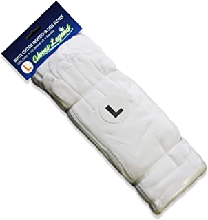 Size Large - 12 Pairs (24 Gloves) Gloves Legend White Coin Jewelry Silver Inspection 100% Cotton Lisle Gloves - Premium Weight