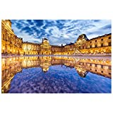 Puzzle El mundialmente Famoso Museo de la Serie Rompecabezas - Louvre, Francia - Gran 300/500/1000 Piezas únicas Cut Interlocking- Juguete de Madera Decoración ( Size : 1000pcs )