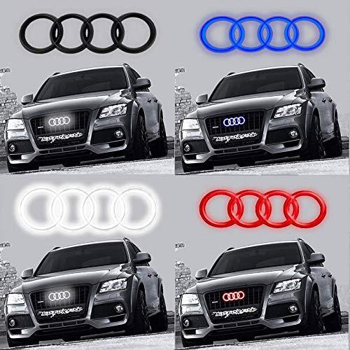 Led Emblema Negro Logo Parrilla delantera iluminada con luz brillante insignia A1 A2 A3 A4 A5