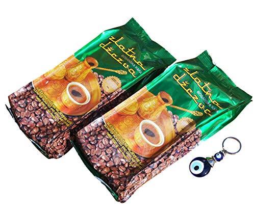 2 x 500g Vispak - Zlatna Dzezva Bosanska Kafa - Bosnischer Mokka Kaffee + Orient-Feinkost Nazar Schlüsselanhänger GRATIS