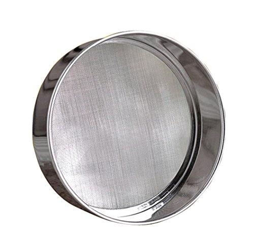 LOVEDAY 6' Stainless Steel Professional Round Flour Sieve Strainer with 40 Mesh (6 Inch, 18/8 Steel) Flour Sieve