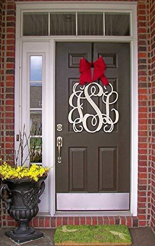 Custom Denver Mall Monogram Letter Wooden Hanger Door Wreath OFFicial site