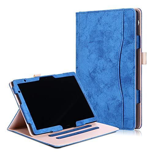 Xuanbeier Funda de Cubierta Multifuncional con Múltiples ángulos de Visión para Huawei MediaPad T5 10/M5 Lite 10 Pulgadas 2018(Azul Oscuro)