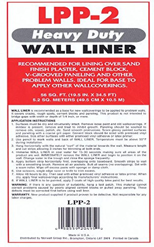 Prepasted Paintable Solid Flat Wallpaper Liner | LPP-2