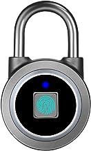 Fingerprint Padlock, Bluetooth Lock, Mobile APP, MEGAFEIS Smart Padlock with Keyless Biometric, Water Resistant, Suitable ...