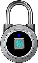 Fingerprint Padlock, Bluetooth Lock, APP, IP65 Waterproof, MEGAFEIS Smart Padlock with Keyless Biometric Suitable for Gym, Sports, Bike, School, Cabinet, Garage and Storage