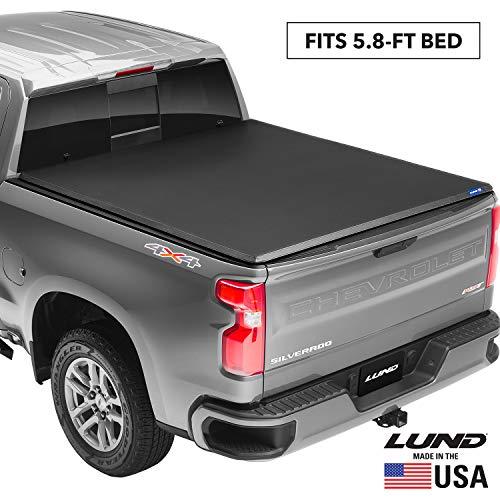 "Lund Genesis Tri-Fold, Soft Folding Truck Bed Tonneau Cover | 95084 | Fits 1999 - 2006, 2007 Classic GMC/Chevy Sierra/Silverado 5' 8"" Bed (68.4"")"
