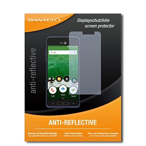 SWIDO Schutzfolie für Doro 8035 [2 Stück] Anti-Reflex MATT Entspiegelnd, Hoher Härtegrad, Schutz vor Kratzer/Bildschirmschutz, Bildschirmschutzfolie, Panzerglas-Folie