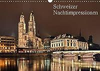 Schweizer Nachtimpressionen (Wandkalender 2022 DIN A3 quer): Fotos aus der naechtlichen Schweiz (Monatskalender, 14 Seiten )
