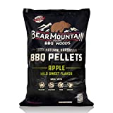 Bear Mountain BBQ 100% All-Natural Hardwood Pellets - Apple Wood (20 lb. Bag) Perfect for Pellet...