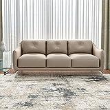 Durian Skyler Three Seater Sectional Sofa (Mushroom Brown)