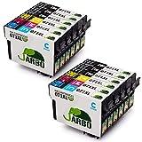 JARBO T0715 Cartucce Compatibili Epson T0711 T0712 T0713 T0714 per Epson SX100 SX110 SX200 SX210 SX218 SX400 DX4400 DX4450 DX5050 DX7400 DX8400 DX8450 BX600FW (6 Nero,2 Ciano,2 Magenta,2 Giallo)