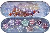 Frozen II Schminkdose - kleine Lipgloss-Dose mit verschiedenen Lipgloss- und Lidschattenfarben und 2 Applikatoren, Mehrfarbig