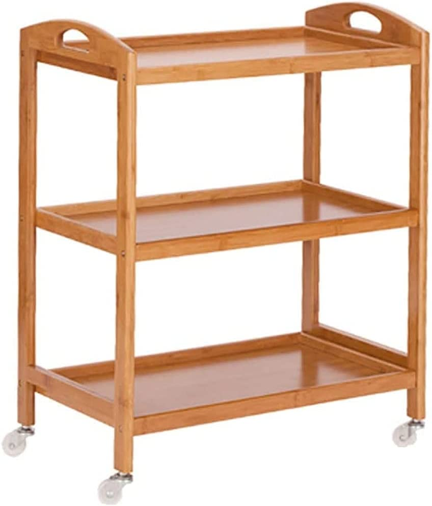 Outstanding Beauty Shopping Trolley on Wheels Bamboo St Serving Max 61% OFF Cart