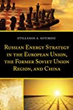 Russian Energy Strategy in the European Union, the Former Soviet Union Region, and China (English Edition)