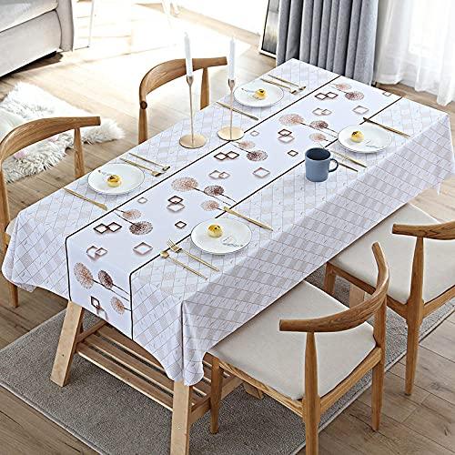 Grå bordsduk tvättbar bordsduk torka ren bordsduk vattentålig rektangulär bordsduk kök matbord dekoration bordsskydd brun maskros 80 x 130 cm
